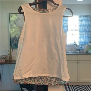 Jcrew mixed media tank top with